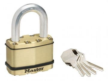 Excell Brass Finish 64mm Padlock 5-Pin - 38mm Shackle